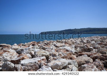 View in The black sea and mountains