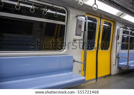 View inside subway door closed & View Inside Subway Door Closed Stock Photo \u0026 Image (Royalty-Free ...