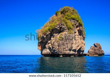 View Island in the Andaman Sea of southern Thailand