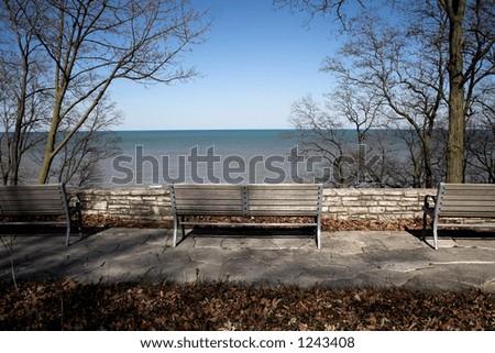View Lake Michigan - stock photo