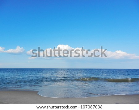 view ocean - stock photo