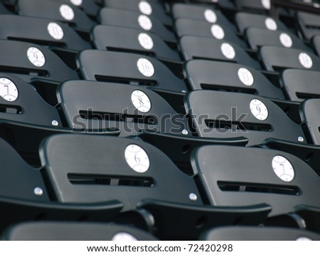 View of a baseball park before the crowd arrives - stock photo