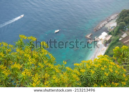 View of a bay on the island of Capri, Italy. Good for background. - stock photo
