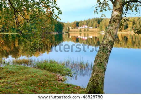 View of a beautiful lake in Finland