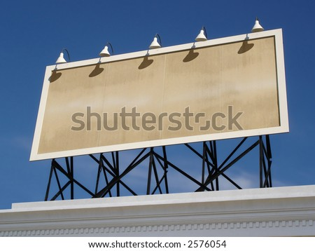 View of a blank vintage billboard. - stock photo