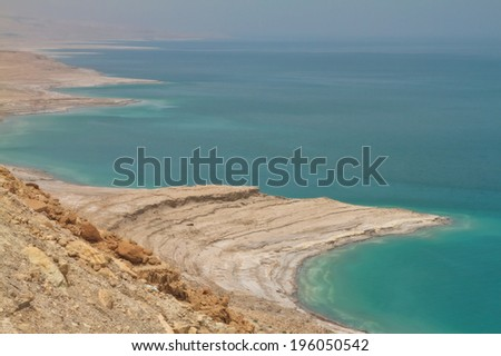 View of a Dead Sea Israel  - stock photo