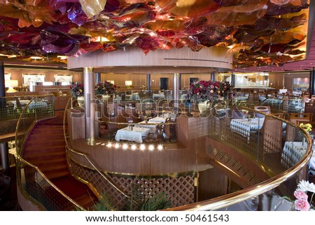 View of a dining interior - stock photo