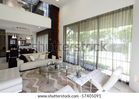 View of a modern living room - stock photo