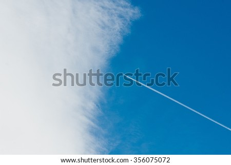 View of a plane flying through the cloud 2