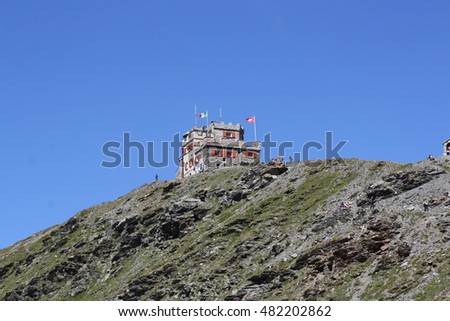View of a retreat in the Stelvio National Park ( Stilfs, Trentino Alto Adige, Italy )