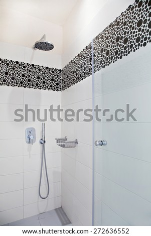 View of a shower - stock photo