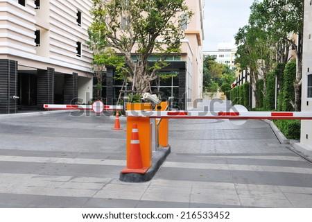 View of a Vehicle Security Barrier - stock photo