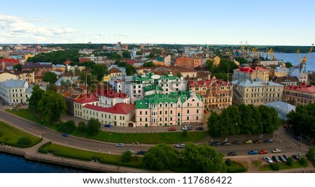 View of a Vyborg, Russia - stock photo