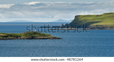 View of a wild coast of the Isle of Skye in Scotland - stock photo