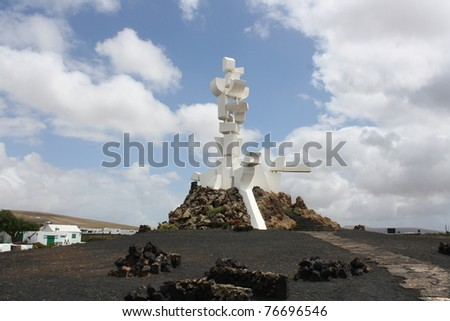 View of Al Campesino Monument ( Lanzarote Island Spain ) - stock photo