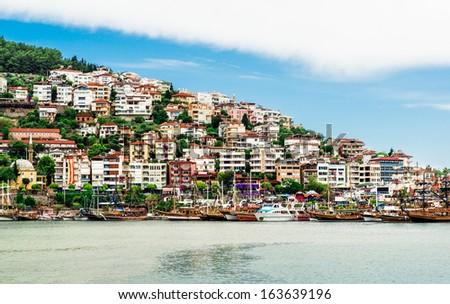 View of Alanya city. Turkey - stock photo