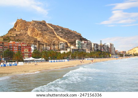 View of Alicante, Spain - stock photo