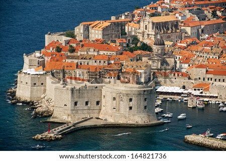 view of an old city of Dubrovnik, Croatia - stock photo