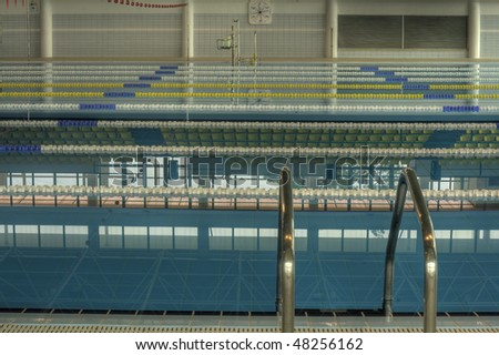 View of an Olympic Swimming Pool - stock photo