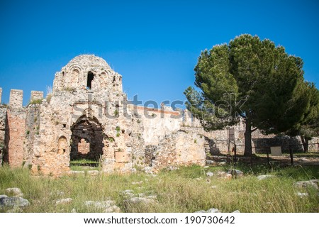View of Ancient Church in Antalya, Turkey - stock photo