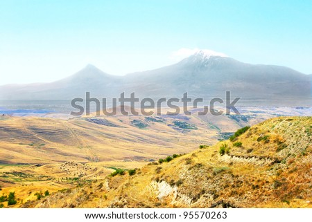 View of Ararat mountain from Armenia.