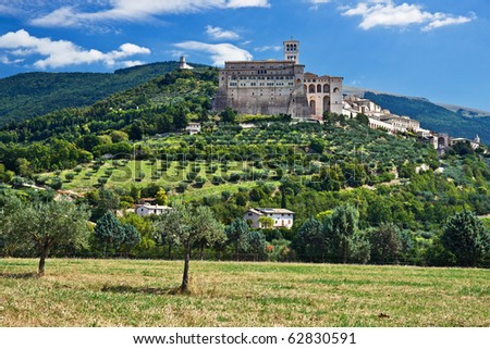 View of Assisi old city, Umbria, Italy
