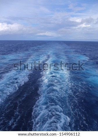 View of Atlantic Ocean from a Cruise Ship - stock photo