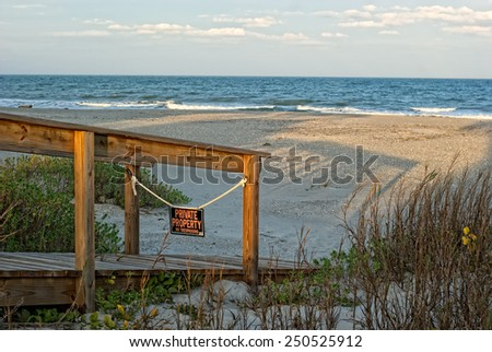 View of Atlantic ocean from the beach. Cocoa Beach, Florida, USA. - stock photo