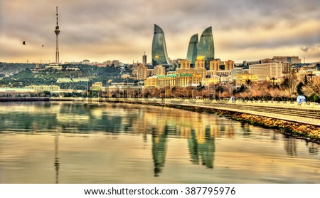 View of Baku by the Caspian Sea - Azerbaijan