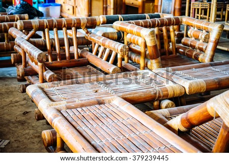 furniture made from bamboo. View Of Bamboo Workshop Where Furniture Is Made From D