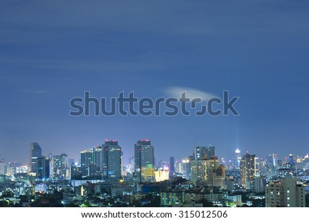 View of bangkok city in the night