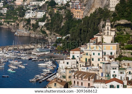 view of beautiful Amalfi