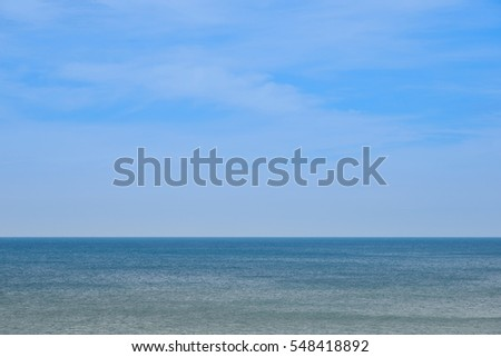 View of beautiful blue sky with Sea a quiet