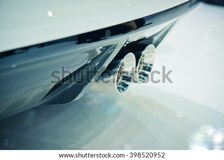 View of beautiful cars  - stock photo
