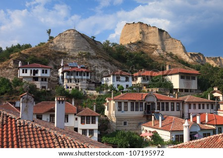 View of beautiful Melnik, Bulgaria. - stock photo