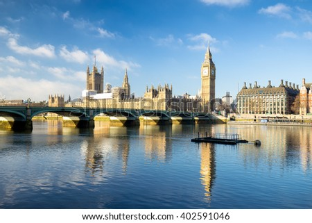 View of Big Ben in London. - stock photo