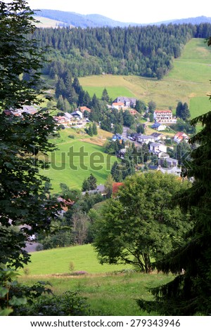 View of Black Forest (Schwarzwald) at summer, Germany - stock photo