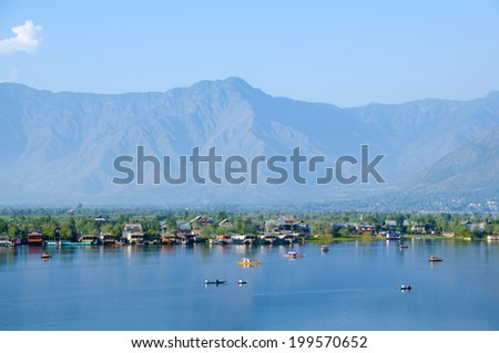 View Of Blue Water Lake - stock photo