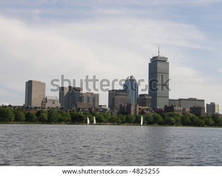 View of Boston - stock photo