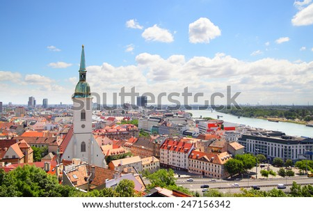 View of Bratislava - stock photo
