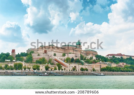 View of Buda palace in Budapest, Hungary. - stock photo