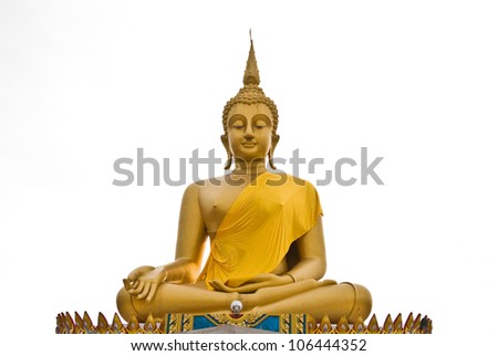 View of buddha statue in Thailand - stock photo