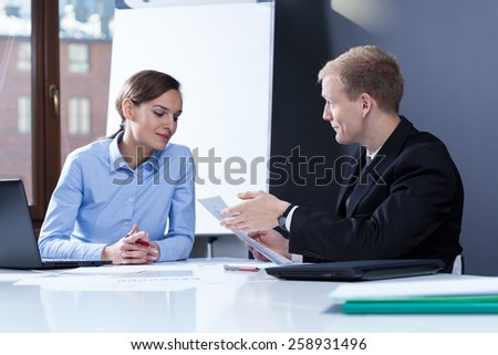 View of business partners having a meeting - stock photo