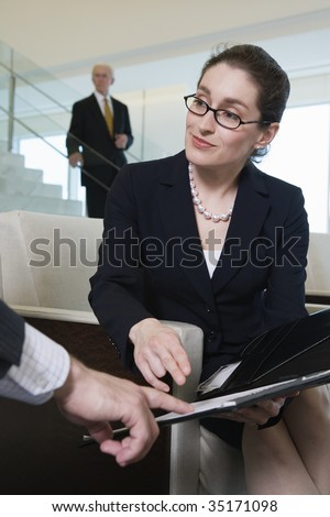 View of businesswoman