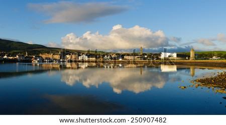 View of Campbeltown, Argyll, Scotland early in the morning - stock photo