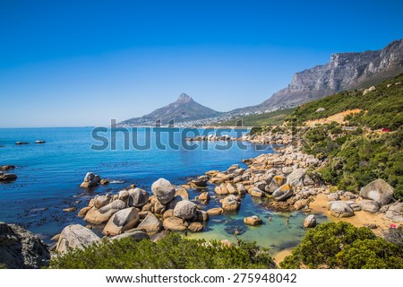 View of Camps Bay - stock photo