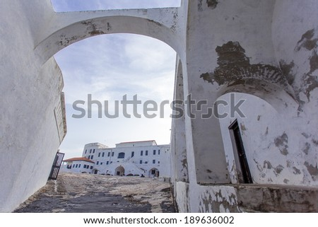 View of Cape Cost castle in Ghana, Africa - stock photo