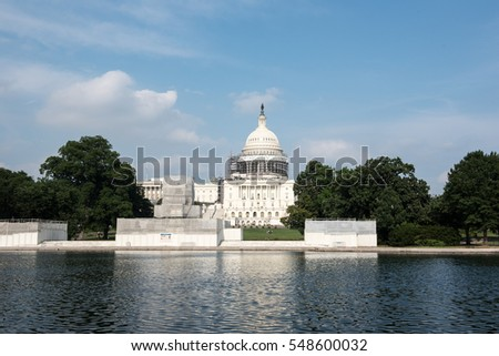 View of Capitol Building, USA