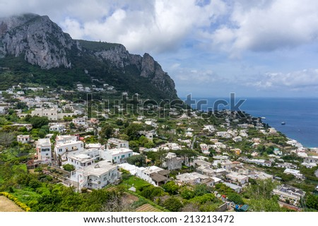 View of Capri Island, Italy - stock photo