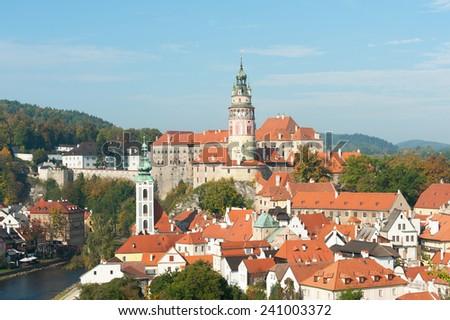 View of Cesky Krumlov, Czech Republic - stock photo